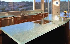 elegant style theme with kitchen recycled glass countertops heat resistant material and single stainless