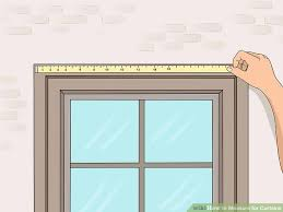 Curtain Size Conversion Chart 3 Ways To Measure For Curtains Wikihow