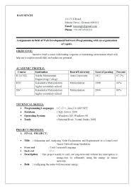 Resume Of Computer Engineer Sample Resume For Computer Science Bitacorita