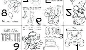 61 Free Printable Ten Commandments Coloring Pages Aias