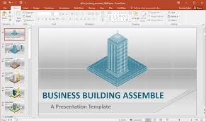 Office Powerpoint Template Office Building Construction PowerPoint Template 14