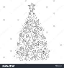For Christmas Tree Adult Coloring Pages Coloring Pages
