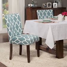 homepop clic parsons dining chair geo brights teal set of 2