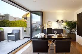 white airy home office. speaking of airy sliding glass doors can do a working mind good black u0026 white with patio u003d cannot go wrong home office