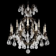 schonbek versailles 12 light rock crystal chandelier