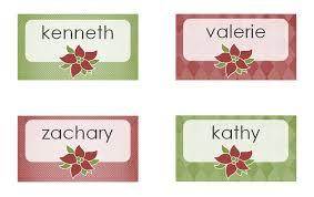 christmas placecard templates christmas dinner place cards avery christmas dinner place cards