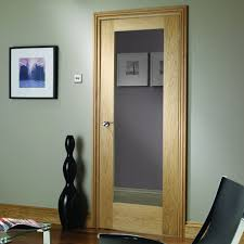 door and frame kit patt 10 oak door clear glass prefinished lifestyle