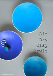 diy air dry clay bowls cute easy project