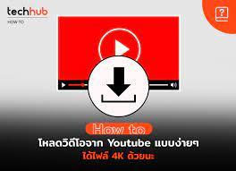 วิธี ดาวน์โหลดวีดีโอจาก Youtube โหลดง่าย ๆ ได้ 4K ด้วยนะ