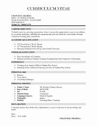 Resume Sample Doc India Inspirational Resume Format For Diploma