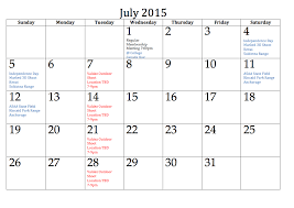 July 2015 Calendar Holidays Get An Exclusive Collection Of