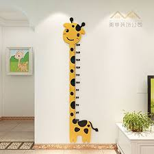 Kindergarten Height Chart Zljtyn Kids Height Growth Chart Cartoon Giraffe 3d Stereo