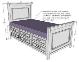 white twin storage bed. Ana White   Build A Fillman Storage Bed With Drawers Free And Easy DIY Project Furniture Plans Twin