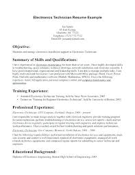 51 Recent Electronics Technician Resume Samples Template Free