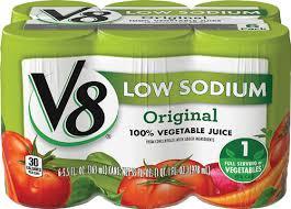 v8 100 vegetable juice low sodium 5 5 fl oz original 6 cans