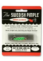 Swedish Pimple Color Chart Bay De Noc Lure Lures For All Seasons