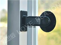 patio door child safety lock proof sliding glass engaging