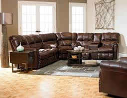 Living Room With Sectional Sofas Perfect Implementation Of Leather Sectional Sofa Pizzafino