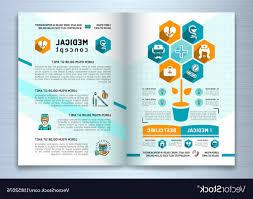 Design Medical Brochure Template A Size Catalog Vector