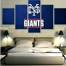 ny giants bedding giants bedroom giants wall decor 5 pieces painting fashion new giants canvas prints on ny giants canvas wall art with ny giants bedding giants bedroom giants wall decor 5 pieces painting