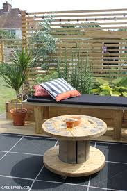 Neutral taupe professional coffee display. How To Turn A Cable Reel Into An Outdoor Coffee Table My Cosy Garden Corner