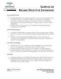 Student Resume Example Fascinating Career Objective Financial Analyst Resume Sample Examples Of For R