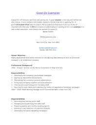 resume examples good job resume good job resume resume template good sample resume example of a well written resume