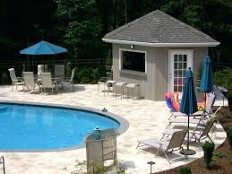 small houses with a pool magnificent modern style pool house designs blue parasol outdoor furniture image small houses with a pool