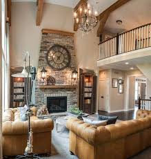 Stone Mantelpiece » Two Story Limestone Living Room Fireplace Two Story Fireplace
