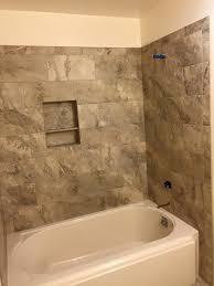 12x24 Porcelain Tub/Shower Enclosure traditional-bathroom