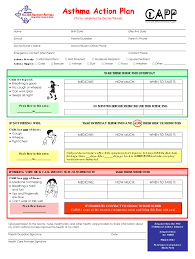 Asthma Action Plan Word Format Fill Online Printable