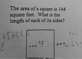 144 Square Feet The Area Of A Square Is 144 Square Feet What Is The Length Of