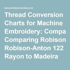 Thread Conversion Charts For Machine Embroidery Comparing