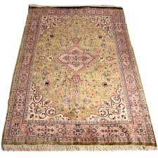 pink green 4 6 persian hand knotted wool rug