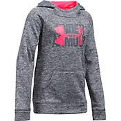 under armour sweatshirts for kids girls. product image · under armour girls\u0027 fleece printed big logo hoodie sweatshirts for kids girls