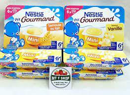 Mỹ Ý Shop - 🍮🍮 VÁNG SỮA NESTLE - hàng xách tay Pháp đã về chuyến hàng đầu  năm🍮🍮🍮 🌿 Váng sữa Nestle vỉ 6 hộp x 60gr tăng cường lợi khuẩn,