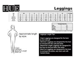 Hue Tights Size Chart Hue Basic Cotton Leggings