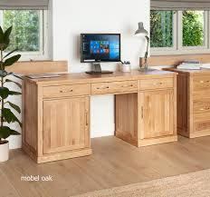 mobel oak hidden home. Baumhaus Mobel Oak Large Hidden Office Twin Pedestal Desk - Nico Furniture Home T