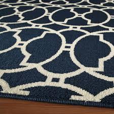 baja navy circles outdoor rug 6ft 7in x 9ft 6in