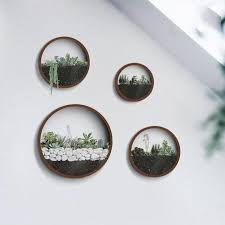 round hanging planter indoor wall