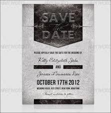 Sample Save The Date Flyer Hashtag Bg