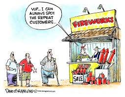 cartoon fire works dave granlund editorial cartoons and illustrations fireworks