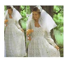 Crochet Wedding Dress Pattern Delectable Crochet WEDDING DRESS PATTERN Vintage 48s And Crochet Wedding Bridal