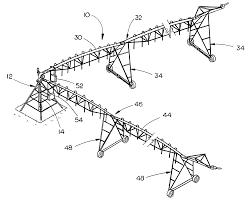 Us08317114 20121127 d00000 patent us8317114 dual span center pivot irrigation system black and white irrigation pivot