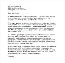 Business Letter Block Format Mixed Punctuation Sample Personal