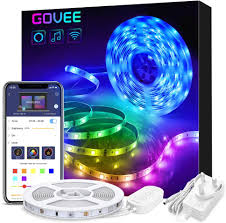 Types App Controlled Led Lights Alexa Led Strip Lights 5 Metre Govee Smart Wifi Wireless App Controlled Music Sync Lighting Strip For Home Kitchen Tv Party Works With Amazon