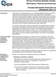 Personal Information Sheets Personal Information Protection Act Information Sheet 12 1