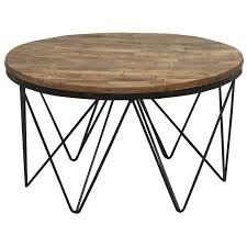 round coffee table with storage rustic