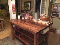 Rustic kitchen island table Home Built Kitchen Ana White Build Rustic Kitchen Island Featuring House Food Baby Free And Pinterest 488 Best Pallet Kitchen Island Images In 2019 Projects Kitchen