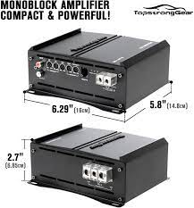Buy TOPSTRONGGEAR 1 Ohm 1500 Watts Class D Full Range Mono Block Amplifier,  1/2/4 Ohm Stable, Remote Subwoofer Control, Subwoofer Amplifiers Online in  Vietnam. B08HCVQH9J